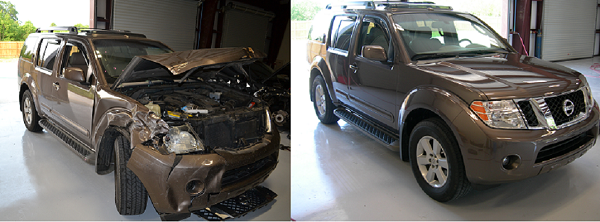 Premier Collision Zachary Pathfinder Before and After
